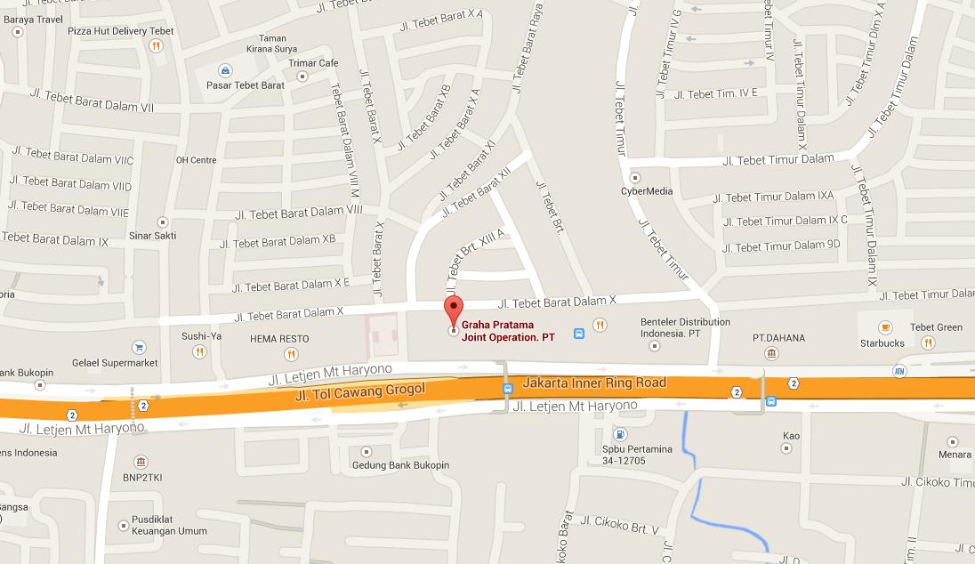 インドネシア ジャカルタの転職エージェント RGF社の位置