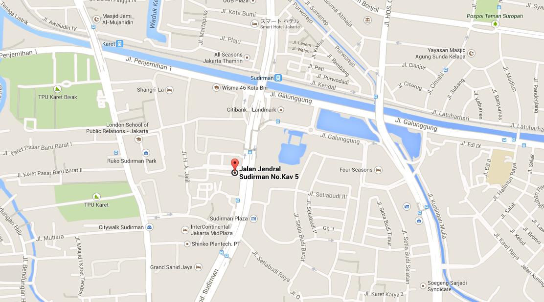 インドネシア ジャカルタの転職エージェント REERACOEN 位置