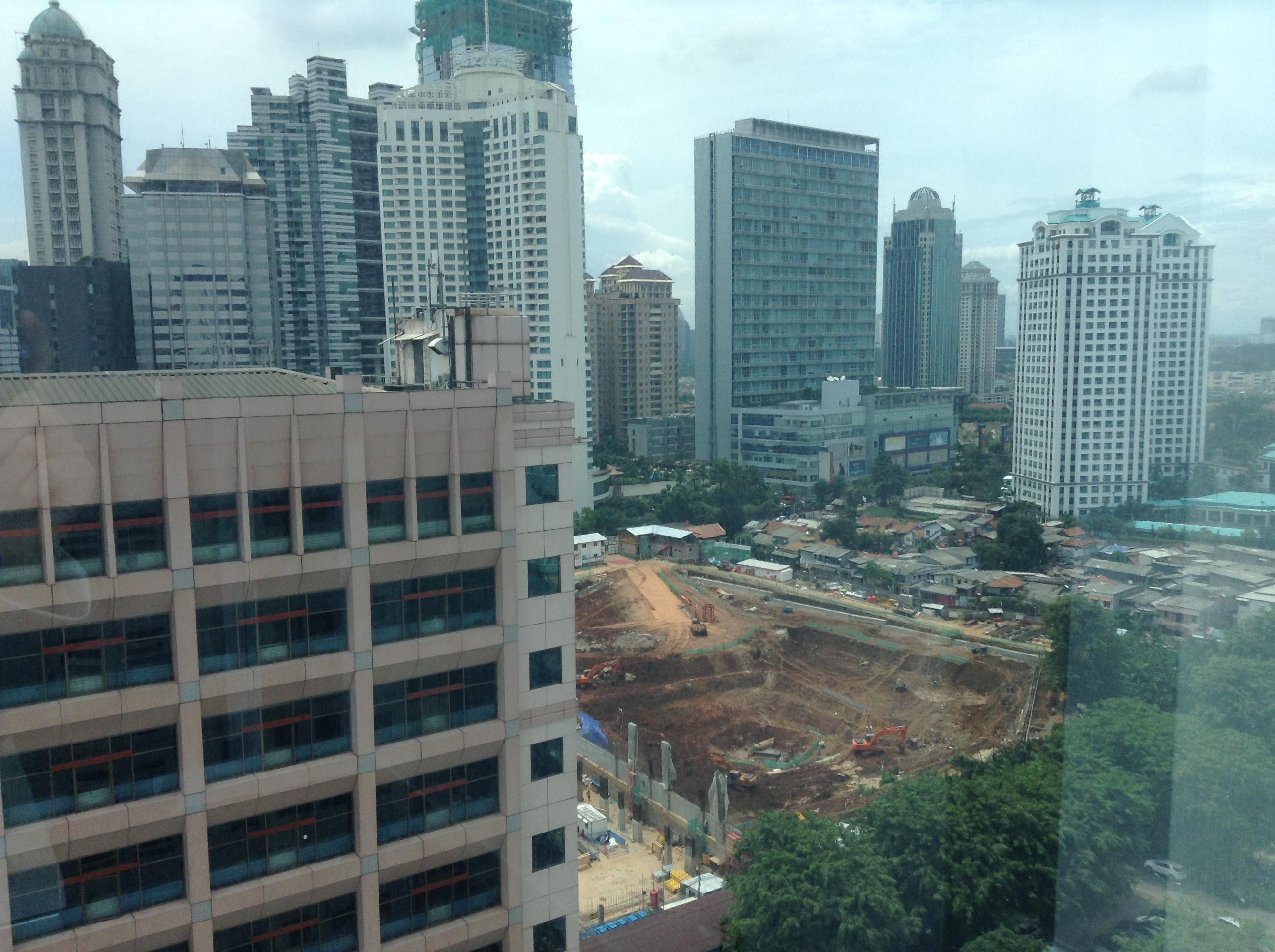 インドネシア ジャカルタの転職エージェント インテリジェンスのオフィスから見た景色