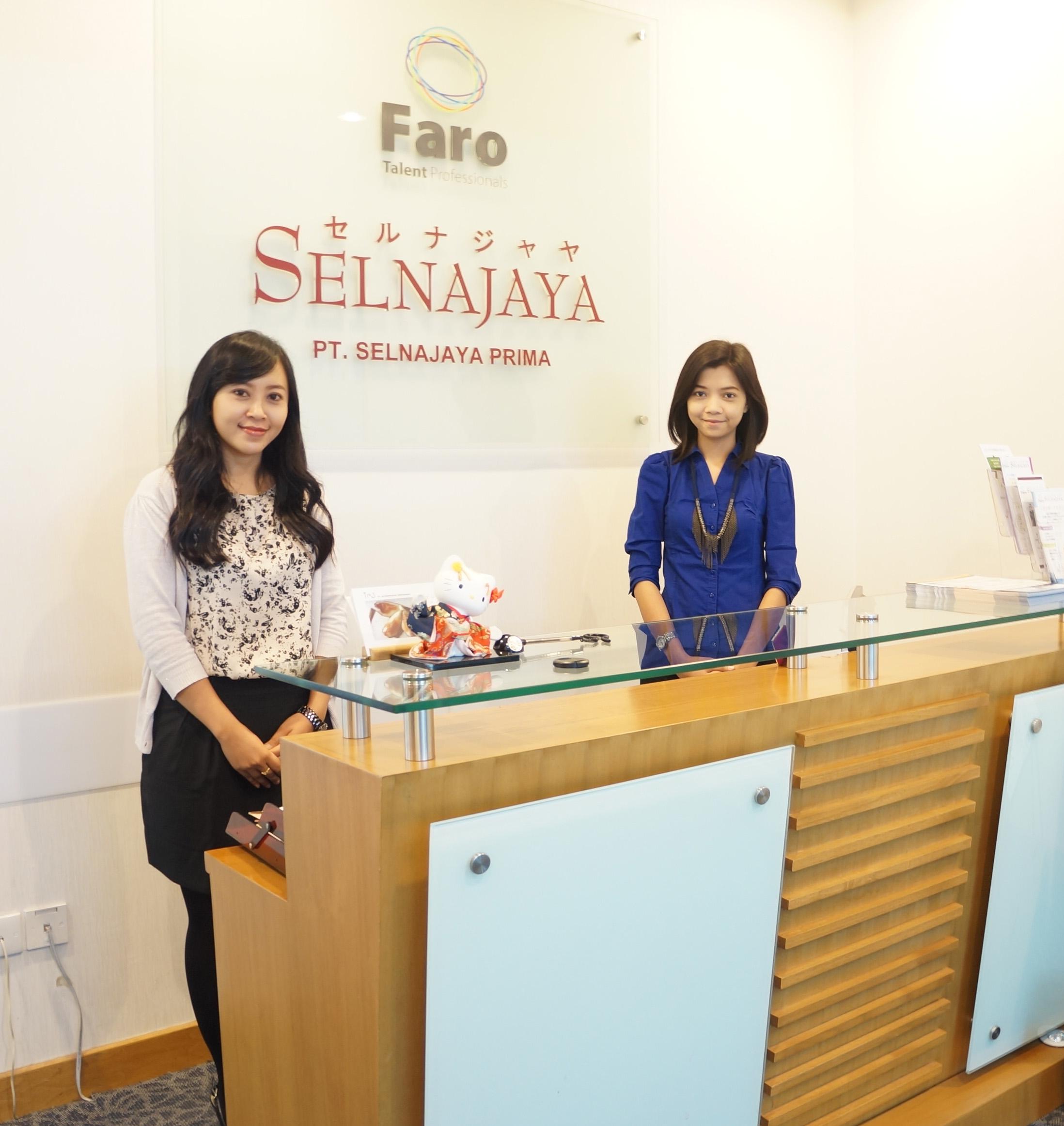 インドネシア ジャカルタの転職エージェント セルナジャヤ 受付