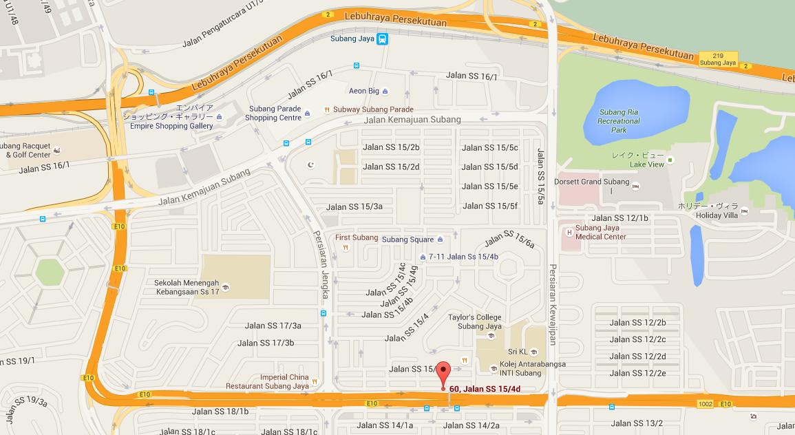 マレーシアの転職エージェント 桜リクルート社 位置