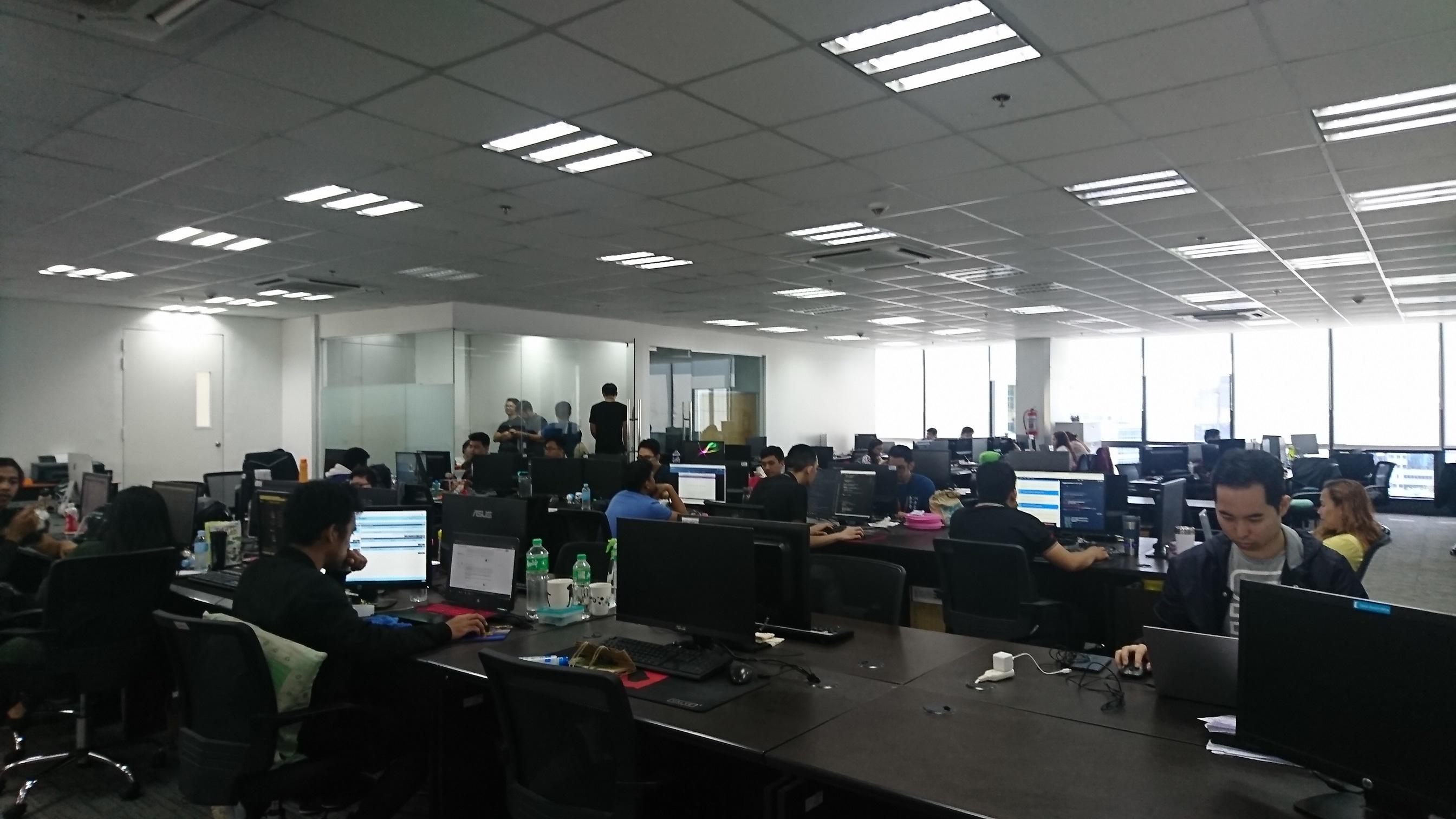 セブの日系IT企業 Sprobe Inc様 オフィスの様子