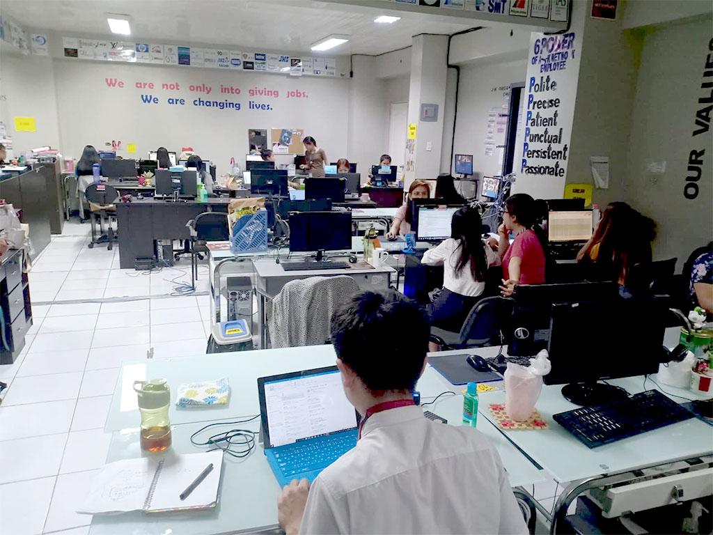 フィリピンの転職エージェント J-K Networkのオフィス